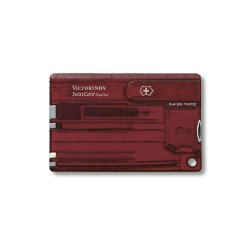 Швейцарская карта Victorinox Swiss Card Quattro Ruby 14 функций красная (0.7200.T)